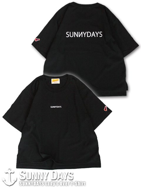 SUNNYDAYS Lady's Over T-Shirt (Lady's) ブラック<img class='new_mark_img2' src='https://img.shop-pro.jp/img/new/icons57.gif' style='border:none;display:inline;margin:0px;padding:0px;width:auto;' />