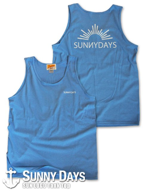 SUN LOGO Tank Top (Unisex) ライトブルー<img class='new_mark_img2' src='https://img.shop-pro.jp/img/new/icons14.gif' style='border:none;display:inline;margin:0px;padding:0px;width:auto;' />