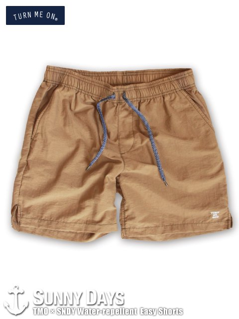 TURN ME ON × SNDY Water-repellent Easy Shorts (Unisex) ベージュ