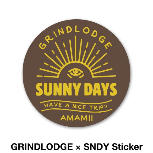 GRINDLODGE × SNDY Sticker<img class='new_mark_img2' src='https://img.shop-pro.jp/img/new/icons14.gif' style='border:none;display:inline;margin:0px;padding:0px;width:auto;' />