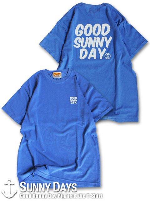 Good Sunny Day Pigment die T-Shirt (Unisex) サニーブルー