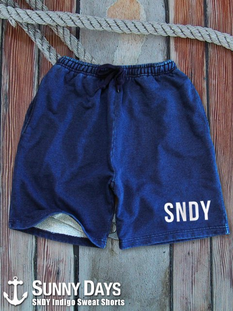 PALM Indigo Denim Sweat Shorts (Men's) 1カラー
