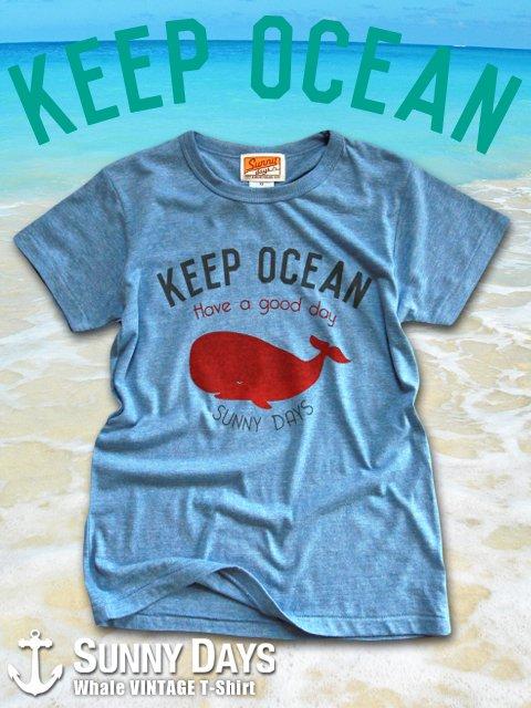 Whale VINTAGE T-shirt (Men's) 2カラー