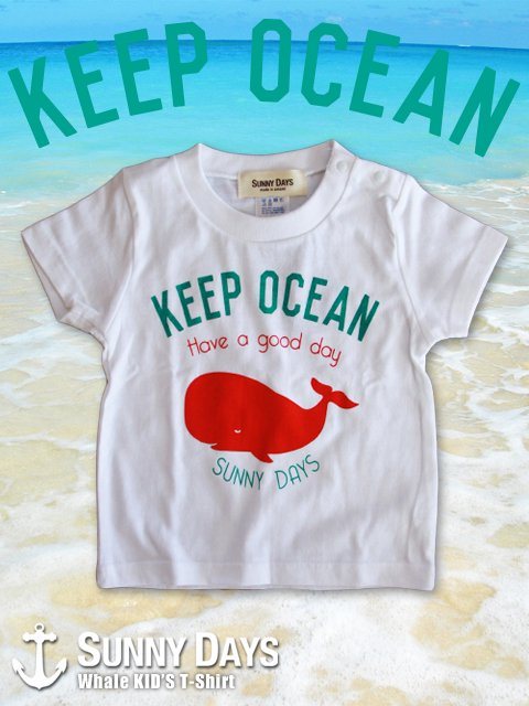 Whale T-shirt (Kid's) 3カラー<img class='new_mark_img2' src='//img.shop-pro.jp/img/new/icons57.gif' style='border:none;display:inline;margin:0px;padding:0px;width:auto;' />