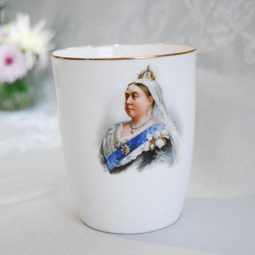 1897年・ヴィクトリア女王ダイアモンドジュービリー記念のビーカー(送料込)