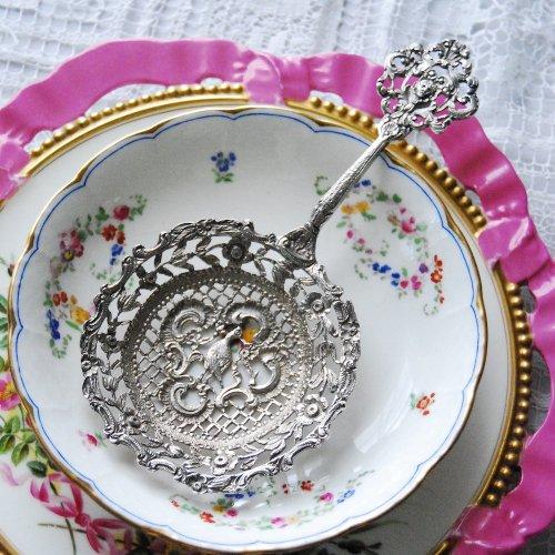 英国スターリングシルバー・鳥のモチーフのベリースプーン・プレゼント付き(送料込)