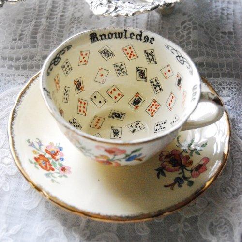 紅茶占い・フォーチュンテリングカップ&ソーサー(送料込)