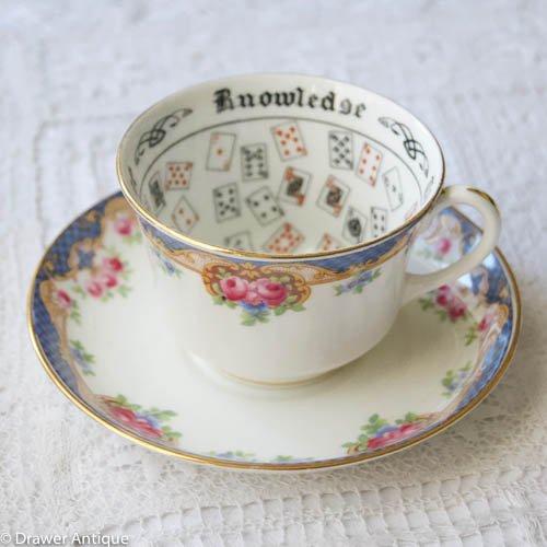 エインズレイ・クラシックの英国のバラのフォーチュンテリングカップ&ソーサー(送料込)