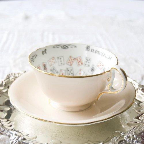 エインズレイ・パステルピンクと金の縁取りが可憐なフォーチューンテリングカップ&ソーサー(送料込)