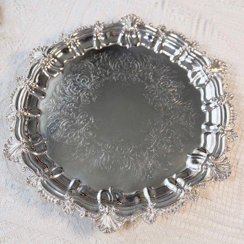 1840年代・貝殻模様のパイクラストリムが美しいサルヴァ (送料込)