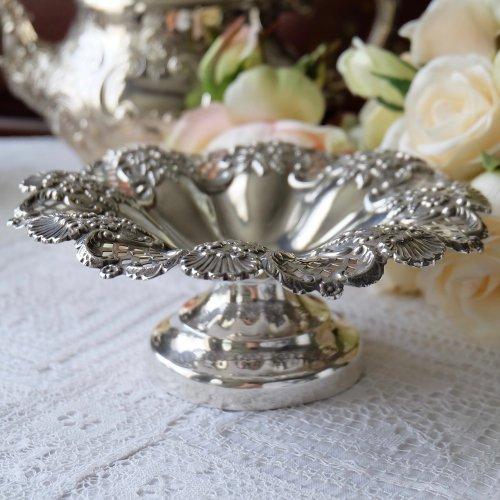 1898年・スターリングシルバー製 お花のような形の小ぶりなタッツア(送料込)