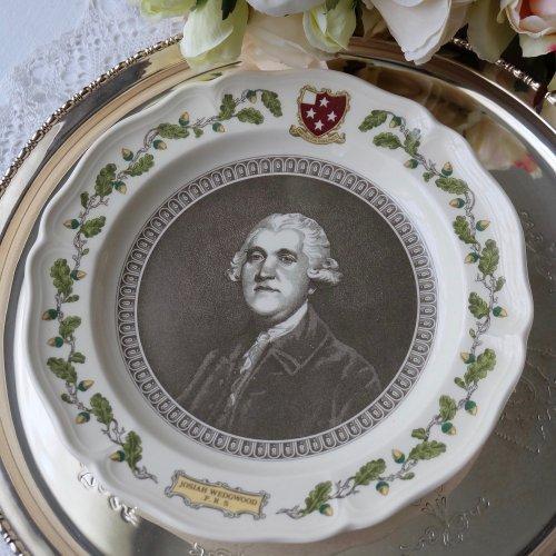 ウェッジウッド 225周年記念 創業者ジョサイア・ウェッジウッドの肖像画プレート(送料込)