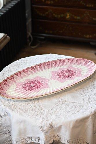 コープランド ピンクのゴシック柄が華やかなヴィクトリア時代のキャバレーセット用トレイ(送料込)
