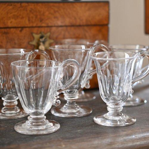 1820年代・手吹きづくりのカスタードグラス 単品・6個あります。(送料込)