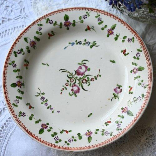 1790年代・ニューホール 春のお花柄 デザートプレート(送料込)