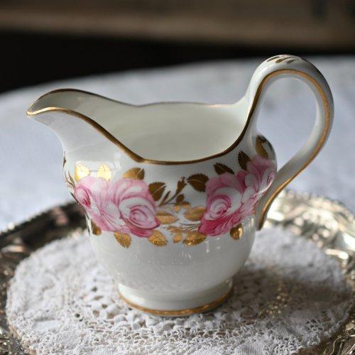 ジャクソン&ゴズリング・グロブナーチャイナ 英国のバラ ミルクジャグ(送料込)