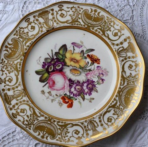 金彩と花柄がゴージャスで美しいデザートプレート(送料込)