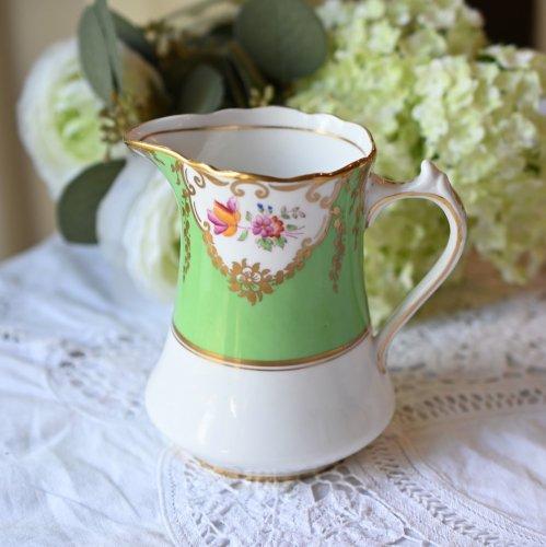 1900年代初期・エメラルドグリーンの美しいミルクジャグ(送料込)