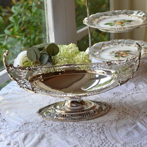 エドワード時代・エルキントン グレシアンスタイルの純銀製オーバルディッシュ(送料込)