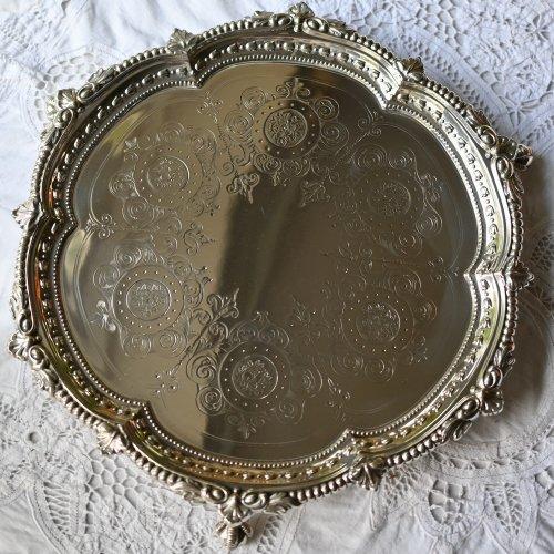 1800年代後期・ボール&クロウフットが豪華なお花のような形のサルヴァ・スターリングシルバー製(送料込)