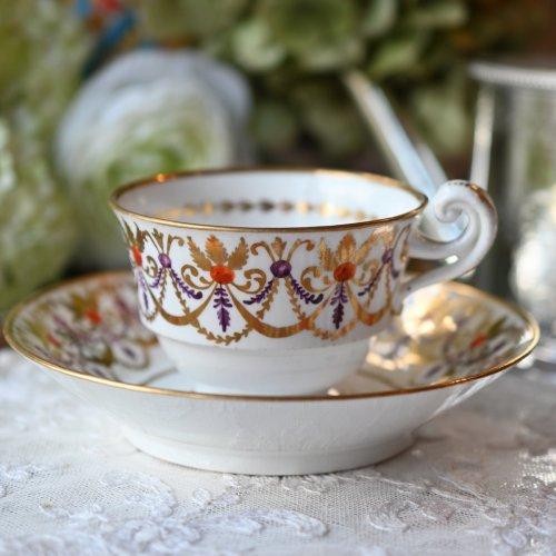 ヒックス&メイ 1820年代・小ぶりのカップとカールが優雅なデュオ(送料込み)