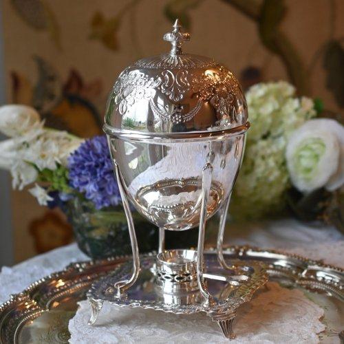 シルバープレート製 上品で煌びやかなジェームス&ディクソンズのエッグコドラー(送料込)