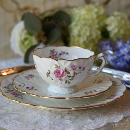 """1900年代初期・エインズレイ""""コウリースプレイ"""" お花のような形をしたティーカップ トリオ(送料込)"""