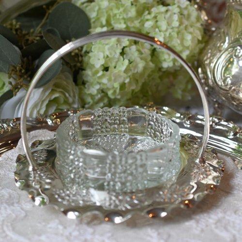 水玉細工のグラスとハンドル付きスタンドがセットになったジャムディッシュ(送料込)