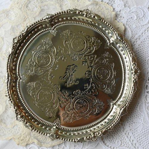 1872年 マーティンホール  スターリングシルバー製クロウ&ボウルフィート・バラのメダリオンのカードトレイ(送料込)