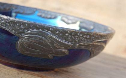 カールトンウェア・ラスター彩の陶器のボール(送料込み)