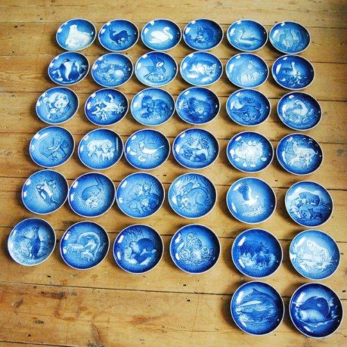 ロイヤルコペンハーゲン・マザーズデー(母の日)コレクションプレート38枚セット(送料込)