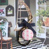 フラミンゴのバッグハンガー ホワイト -glitt Handmade-