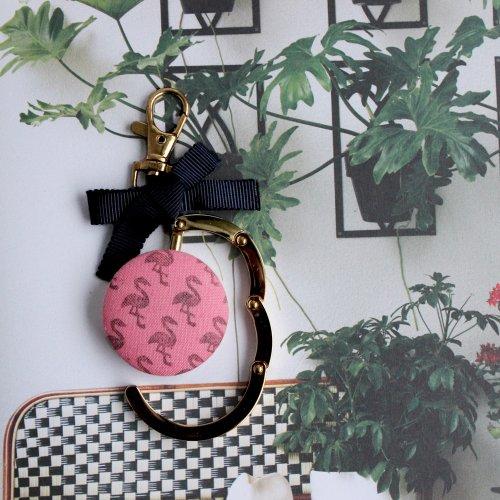 フラミンゴのバッグハンガー/ピンク