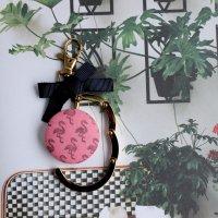 フラミンゴのバッグハンガー ピンク -glitt Handmade-