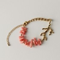 コーラルブレスレット -glitt Handmade-