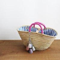 ペールトーンタッセルのミニマルシェバッグ -glitt Handmade-