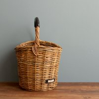 ワンハンドルバスケット 本革持ち手 かごバッグ アラログ 籐 ラタン -glitt Handmade-