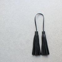 本革タッセル ブラック/ロング バッグアクセサリー バッグチャーム -glitt Handmade-