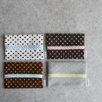 ◆4枚セット◆ドット×ストライプのポケットティッシュケース ティッシュカバー -glitt Handmade-