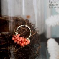 珊瑚のリング -glitt Handmade-