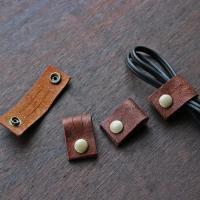 レザーコードホルダー(S)オイルレザー/ケーブルホルダー ケーブルクリップ -glitt Handmade-