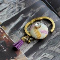 USAコットンのビジューバッグハンガー(マルチカラー) -glitt Handmade-