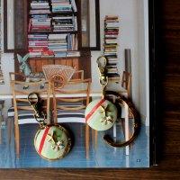 スター&リボンのバッグハンガー -glitt Handmade-