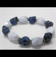 <img class='new_mark_img1' src='//img.shop-pro.jp/img/new/icons50.gif' style='border:none;display:inline;margin:0px;padding:0px;width:auto;' />Stone Bracelet / Blue × White