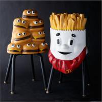 <img class='new_mark_img1' src='//img.shop-pro.jp/img/new/icons50.gif' style='border:none;display:inline;margin:0px;padding:0px;width:auto;' />Mcdonald's French Fry & Hamburger Store Chair Set!