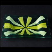 Higgins art glass ashtray