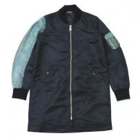 <img class='new_mark_img1' src='//img.shop-pro.jp/img/new/icons15.gif' style='border:none;display:inline;margin:0px;padding:0px;width:auto;' />90210 Black Beverly Hills Bomber JKT / Turquoise blue Snake