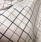 アイロン台カバー カットクロス R2.5cm目盛シーチング マス目柄紺  92cm巾×5m