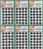 500番スナップ00番 (7mm) 黒 1シート(144個)