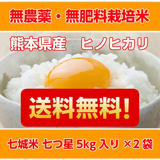 <img class='new_mark_img1' src='//img.shop-pro.jp/img/new/icons29.gif' style='border:none;display:inline;margin:0px;padding:0px;width:auto;' />【送料無料】無農薬・無肥料 自然栽培米 七城米 七つ星 5kg入り 2袋セット